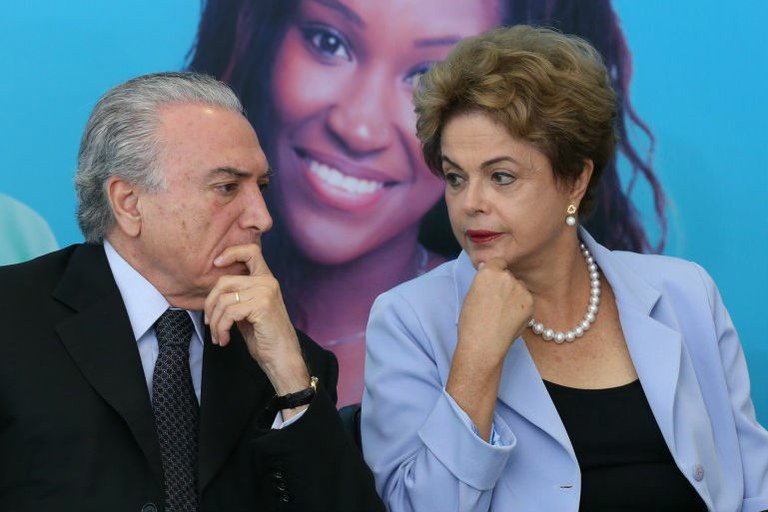 Michel Temer e Dilma Rousseff: as intenções dele são claras
