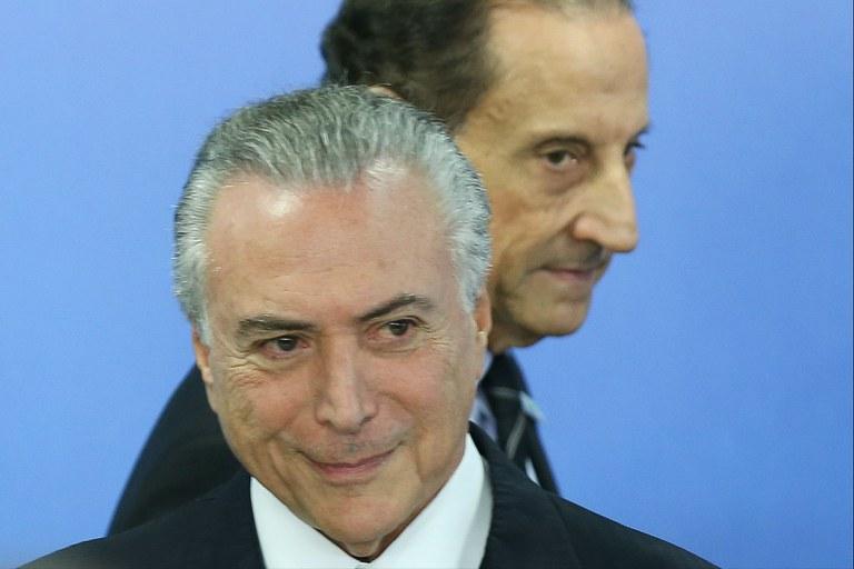 Michel Temer e Paulo Skaf, presidente da Fiesp: a crise está longe de acabar